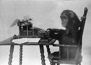 monkey typing