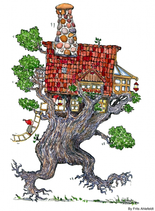 tree house heading for town